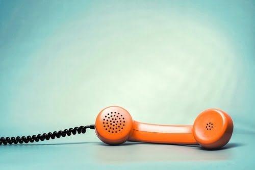 オレンジの受話器
